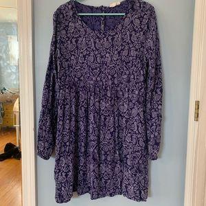 Roxy Purple Print Dress